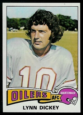 Lynn Dickey 1975 Topps football card