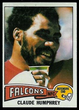Claude Humphrey 1975 Topps football card