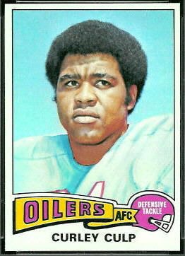 Curley Culp 1975 Topps football card