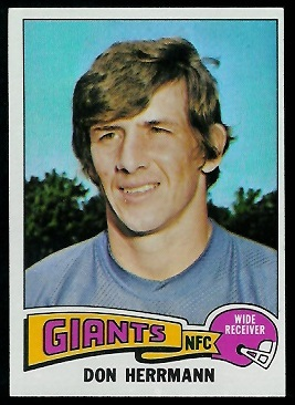 Don Herrmann 1975 Topps football card