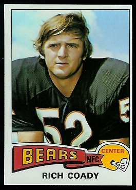 Rich Coady 1975 Topps football card