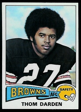 Thom Darden 1975 Topps football card