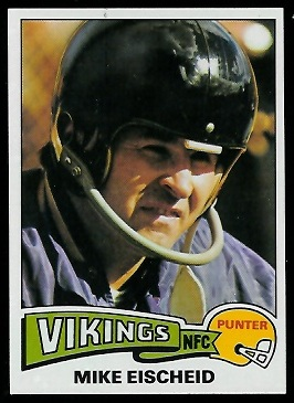 Mike Eischeid 1975 Topps football card
