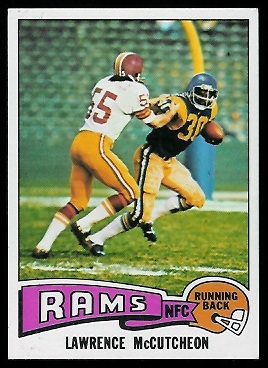 Lawrence McCutcheon 1975 Topps football card