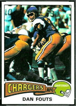 Dan Fouts 1975 Topps football card