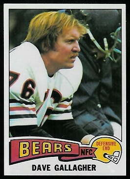 Dave Gallagher 1975 Topps football card