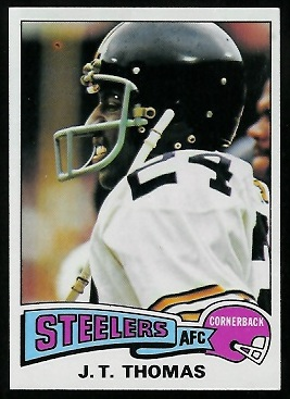 J.T. Thomas 1975 Topps football card