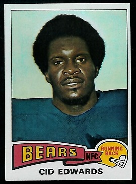 Cid Edwards 1975 Topps football card