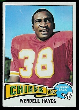 Wendell Hayes 1975 Topps football card