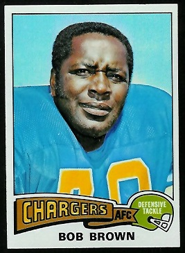 Bob Brown 1975 Topps football card