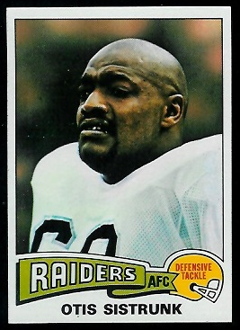 Otis Sistrunk 1975 Topps football card