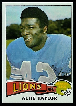 Altie Taylor 1975 Topps football card