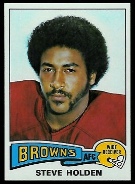 Steve Holden 1975 Topps football card