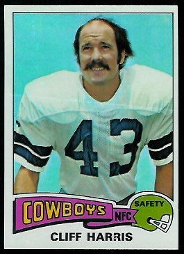 Cliff Harris 1975 Topps football card