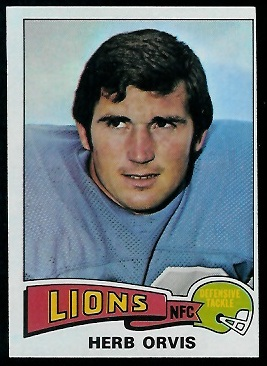 Herb Orvis 1975 Topps football card