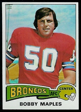 Bobby Maples 1975 Topps football card