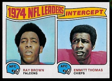 1974 Interception Leaders 1975 Topps football card