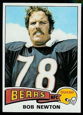 Bob Newton 1975 Topps football card