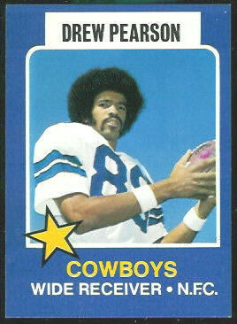 Drew Pearson 1975 Wonder Bread football card