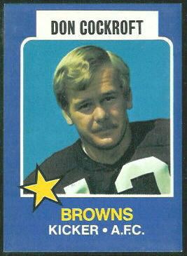 Don Cockroft 1975 Wonder Bread football card