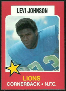 Levi Johnson 1975 Wonder Bread football card