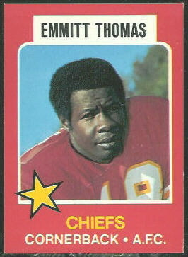 Emmitt Thomas 1975 Wonder Bread football card