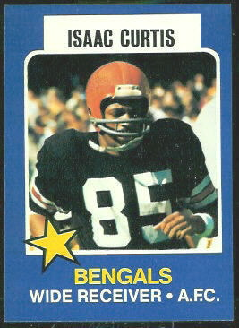 Isaac Curtis 1975 Wonder Bread football card