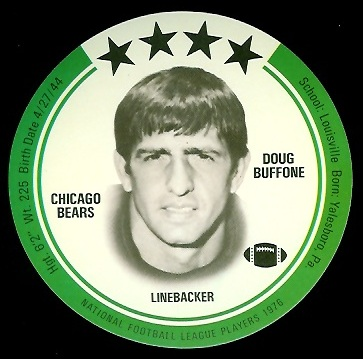 Doug Buffone 1976 Buckmans Discs football card
