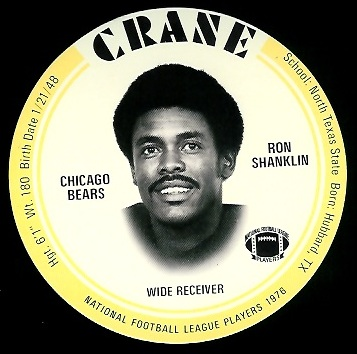 Ron Shanklin 1976 Crane Discs football card