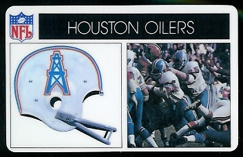 Houston Oilers 1976 Popsicle football card