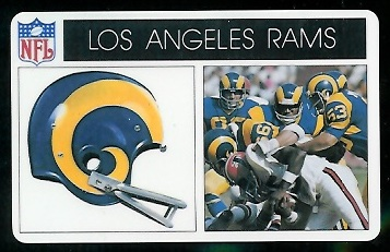 Los Angeles Rams 1976 Popsicle football card