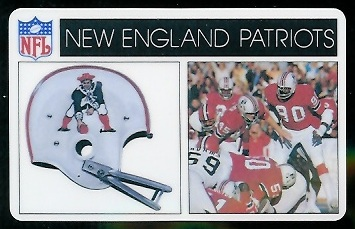 New England Patriots 1976 Popsicle football card