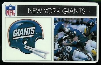 New York Giants 1976 Popsicle football card