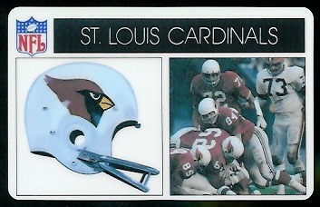 St. Louis Cardinals 1976 Popsicle football card