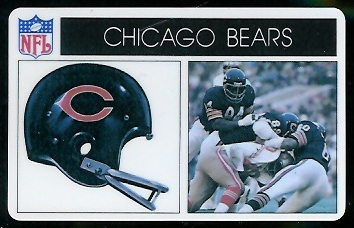 Chicago Bears 1976 Popsicle football card