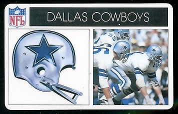 Dallas Cowboys 1976 Popsicle football card