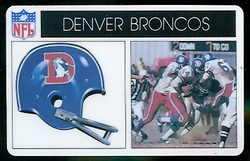 Denver Broncos 1976 Popsicle football card