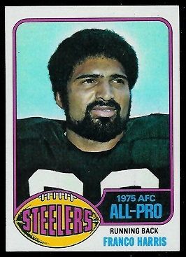 Franco Harris 1976 Topps football card