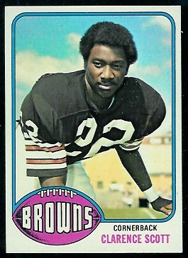 Clarence Scott 1976 Topps football card