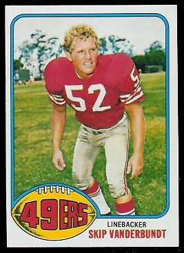 Skip Vanderbundt 1976 Topps football card