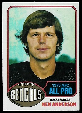 Ken Anderson 1976 Topps football card