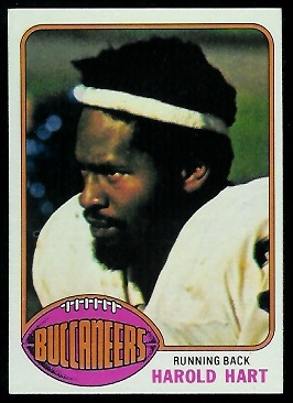 Harold Hart 1976 Topps football card