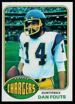 Dan Fouts 1976 Topps football card