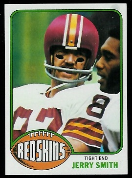 Jerry Smith 1976 Topps football card