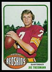 Joe Theismann 1976 Topps football card