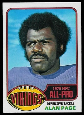Alan Page 1976 Topps football card