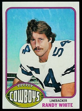 Randy White 1976 Topps rookie football card