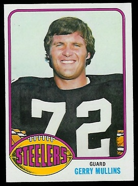 Gerry Mullins 1976 Topps football card