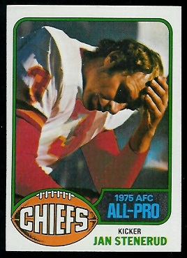 Jan Stenerud 1976 Topps football card