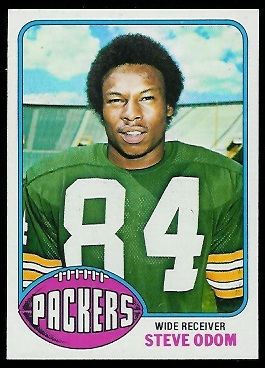 Steve Odom 1976 Topps football card